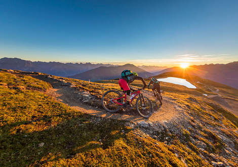 Mountainbiken in Serfaus Fiss Ladis